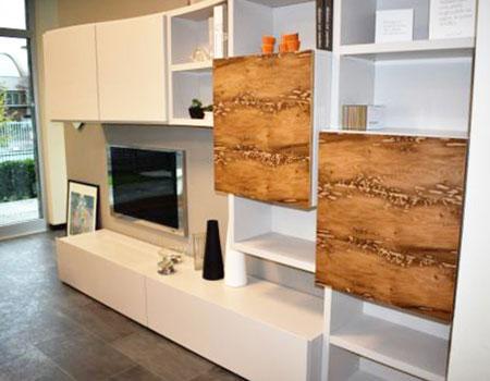 Mobile soggiorno Napol in legno impiallacciato e briccole