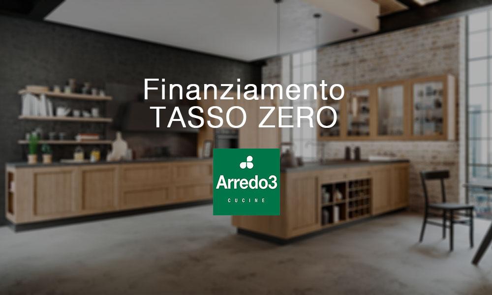 Cucine Arredo3 con finanziamento a tasso zero a Lecco, Monza, Milano e Bergamo
